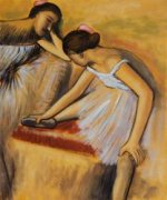 Dancers in Repose - Oil Painting Reproduction On Canvas