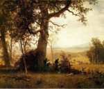 Guerilla Warfare - Albert Bierstadt Oil Painting