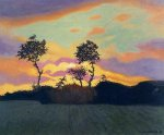 Landscape at Sunset - Felix Vallotton Oil Painting