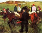 Racehorses at Longchamp II - Edgar Degas Oil Painting