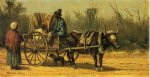 Traveling by Ox Cart - William Aiken Walker Oil Painting
