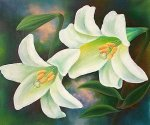 Tiger Lilies - Oil Painting Reproduction On Canvas