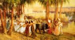 Procession in Honor of Isis - Frederick Arthur Bridgeman oil painting