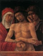 Dead Christ Supported by the Madonna and St John (Pietà) - Giovanni Bellini Oil Painting