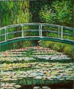 The Japanese Bridge II - Claude Monet Oil Painting