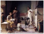 A Sick Child Brought into the Temple of Aesculapius - John William Waterhouse Oil Painting