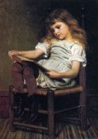 A Leisure Hour - John George Brown Oil Painting