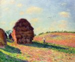 Haystacks - Alfred Sisley Oil Painting