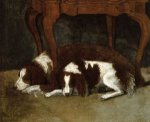 The Hunter Dogs -Gilbert Stuart Oil Painting