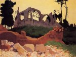 The Church of Souain in Sihlouette - Felix Vallotton Oil Painting