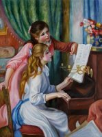 Young Girls at the Piano III - Oil Painting Reproduction On Canvas