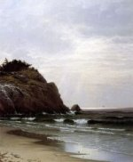 Cloudy Day, Great Head - Alfred Thompson Bricher Oil Painting