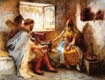 The Game of Chance -Frederick Arthur Bridgeman Oil Painting