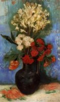 Vase with Carnations and Other Flowers - Vincent Van Gogh Oil Painting