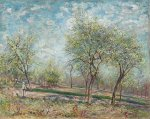 Apple Trees in Bloom - Alfred Sisley Oil Painting