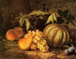 Still Life with Cantaloupe - William Mason Brown Oil Painting