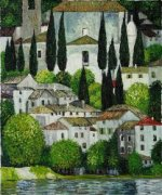 Church in Cassone - Oil Painting Reproduction On Canvas