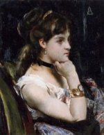 Woman Wearing a Bracelet - Oil Painting Reproduction On Canvas