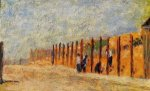 Peasants Driving Stakes - Georges Seurat Oil Painting