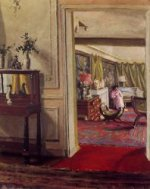 Interior with Woman in Pink - Felix Vallotton Oil Painting