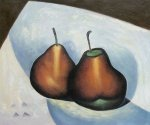 Two Pears - Georgia O'Keeffe Oil Painting