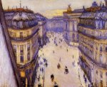 Rue Halevy, Seen from the Sixth Floor - Gustave Caillebotte Oil Painting