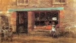Blue and Orange: The Sweet Shop - James Abbott McNeill Whistler Oil Painting