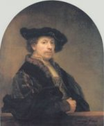 Self Portrait 27 - Rembrandt van Rijn Oil Painting
