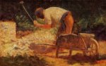 The Stone Breaker - Georges Seurat Oil Painting