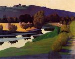 Evening on the Loire - Felix Vallotton Oil Painting