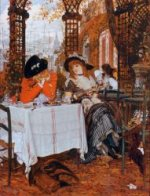 A Luncheon - James Tissot Oil Painting