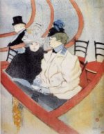 Box in the Grand Tier - Henri De Toulouse-Lautrec Oil Painting