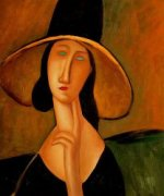 Portrait of Woman in Hat - Oil Painting Reproduction On Canvas