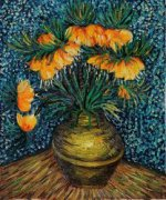 Crown Imperial Fritillaries in a Copper Vase - Vincent Van Gogh Oil Painting