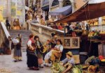 At the Foot of the Rialto, Venice - Oil Painting Reproduction On Canvas