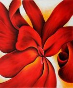 Red Cannas - Georgia O'Keeffe Oil Painting