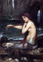 A Mermaid - Oil Painting Reproduction On Canvas