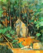 Cistern in the Park at Chateau Noir - Paul Cezanne Oil Painting