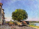 Le Marronier Saint-Mammes - Alfred Sisley Oil Painting