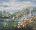 Baume in Blute - Claude Monet Oil Painting