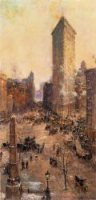 Flatiron Building - Colin Campbell Cooper Oil painting