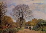 A Road in Seine-et-Marne - Alfred Sisley Oil Painting