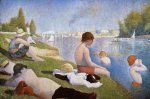 Bathing at Asnieres - Oil Painting Reproduction On Canvas