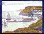 Port-en-Bessin, The Outer Harbor, High Tide - Georges Seurat Oil Painting