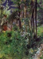 A Woman in a Forest - Anders Zorn Oil Painting