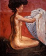 Paris Nude - Edvard Munch Oil Painting