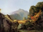 Landscape Scene from 'The Last of the Mohicans' - Thomas Cole Oil Painting