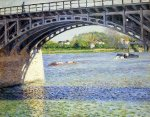 The Argenteuil Bridge and the Seine - Gustave Caillebotte Oil Painting