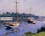 The Basin at Argenteuil - Gustave Caillebotte Oil Painting