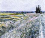 The Plain at Gennevilliers, Group of Poplars - Gustave Caillebotte Oil Painting